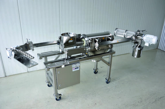 An AZO DA model Screening Equipment with its slide rails extracted