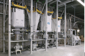 Big bag stations with vacuum conveying
