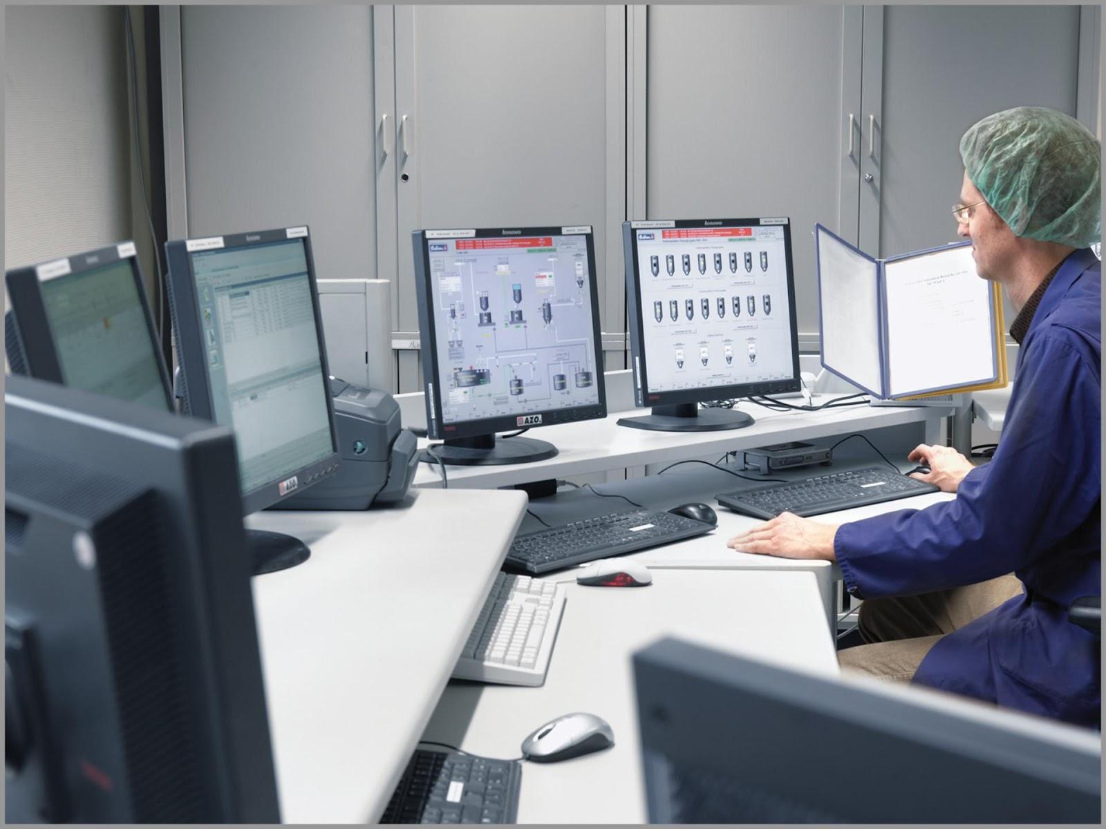 image1 (1)Operator using advanced manufacturing control systems to back up processes.